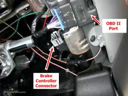 Location of Brake Controller Connector on 2005 Ford F150 | etrailer.com | Ford F150 Brake Controller Wiring Diagram |  | etrailer.com