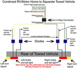 Diagram Showing How To Wire Taillight Diode Kit Like a 2-Wire System |  etrailer.cometrailer.com