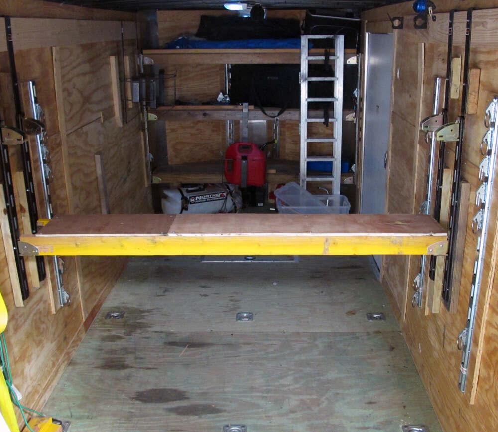 Rack Em Shelf Kit For Enclosed Trailers Rackem Trailer Cargo Organizers Ra 13
