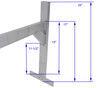 Rack'em Fitz-All Enclosed Trailer Ladder Rack Drilling Required RA-28
