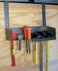 rackem trailer cargo organizers tool rack contracting hobby space landscaping rack'em storage for enclosed trailers - sledgehammers and hardscaping hand tools