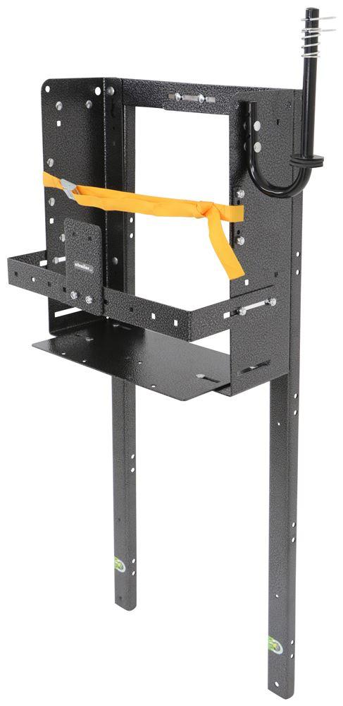 Rack'em Storage Rack for Open Air Trailers - Adjustable - 1 Backpack Sprayer or Blower Blower Rack,Sprayer Rack RA-39-BMH