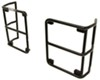 Rampage Euro Style Tail Light Guards for Jeep - Black Powder Coated Steel Light Trim RA88660
