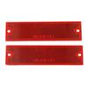 Thinline Trailer Reflectors - Adhesive Backing - Screw Mount - Rectangle - Red - Qty 2 Red RE15RK