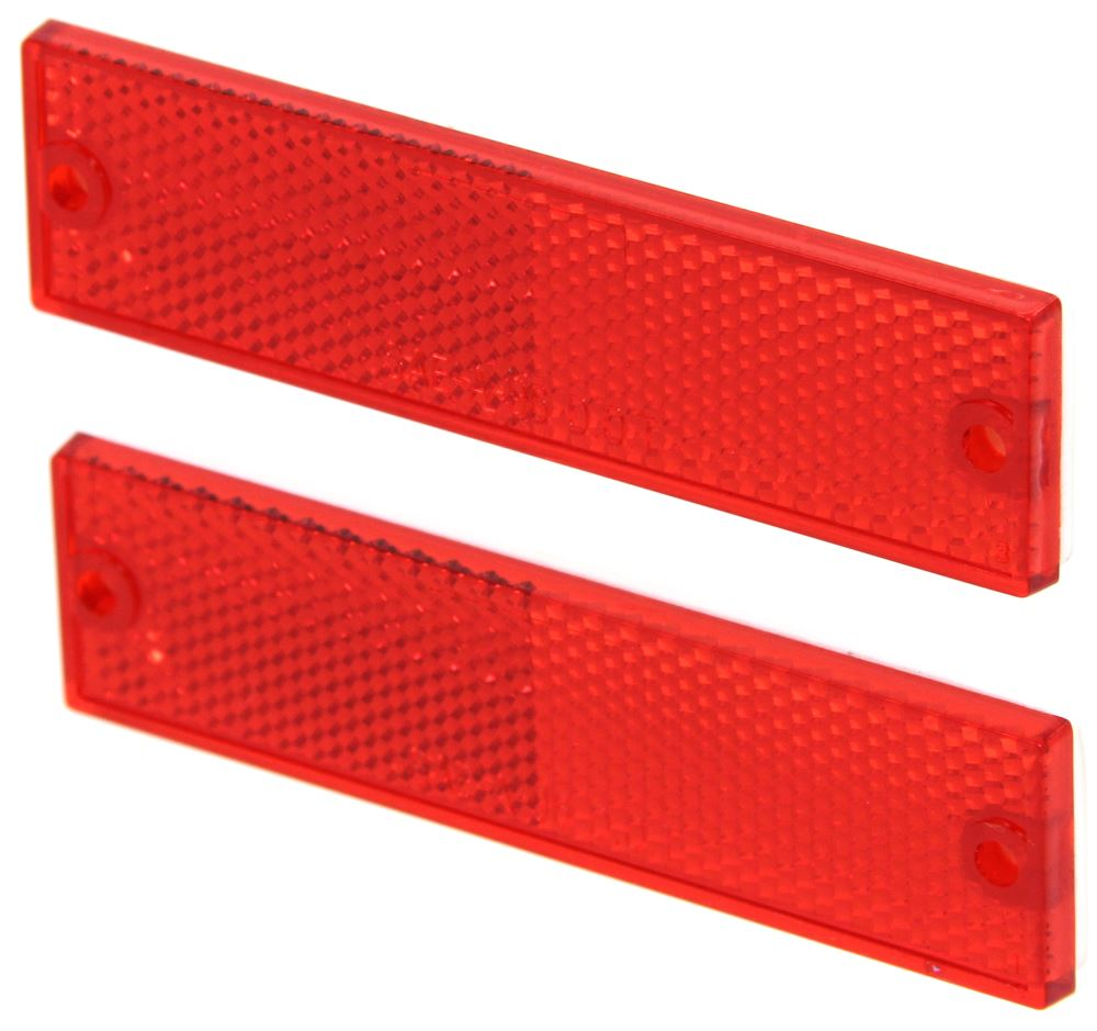 LOCOLO 16 PCS Rear Reflector for Car Red /& white Rectangular Rear Reflectors Conspicuity Safety Screw-Mount Rectangular Reflectors for Truck Trailer Pickup