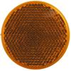 optronics trailer lights  2 inch diameter adhesive reflector for truck or - 2-3/16 round stick on amber qty 1