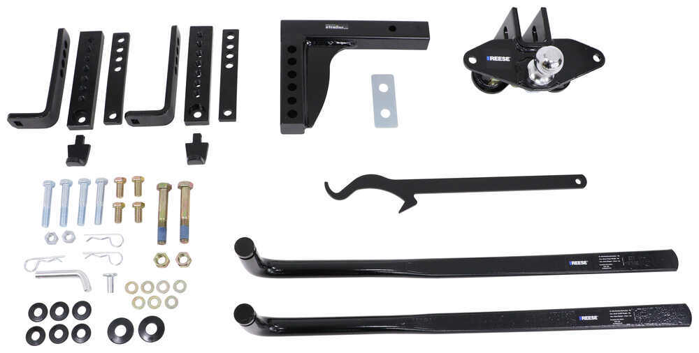 1,150 lbs. Reese 49913 Round Bar Weight Distribution Kit with Integrated Sway 11,500 lbs. GTW TW