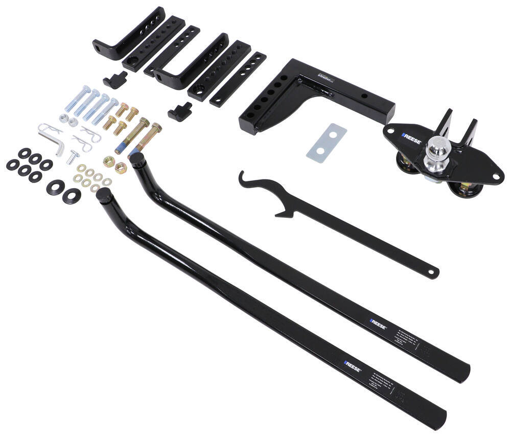 Reese 49912 Round Bar Weight Distribution Kit with Integrated Sway 8,000 lbs. TW GTW 800 lbs.