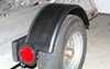 "Single Axle Trailer Fender w/ Backing Plate - Steel - 13"" to 14"" Wheels - Qty 1 customer photo"