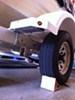 "Single Axle Trailer Fenders w Mounting Brackets - White Plastic - 13"" to 15"" Wheels customer photo"