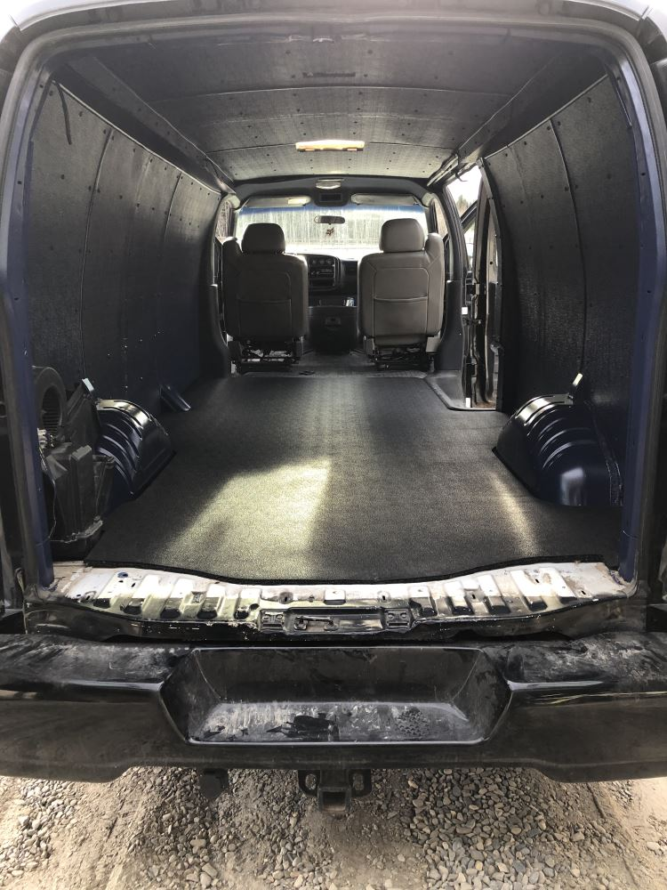 Vantred Custom Floor Mat For Cargo Vans Black Thermoplastic Bedrug Cargo Van Mats Vtrg96x