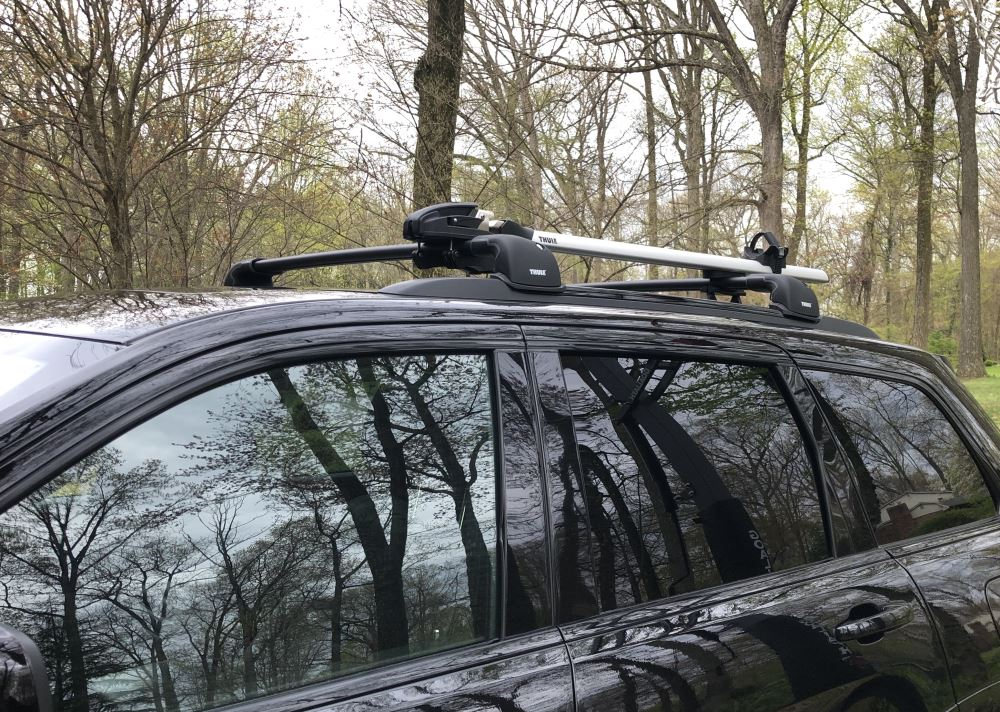 Thule Aeroblade Edge Roof Rack Fixed Mounting Points Flush Factory Side Rails Aluminum Black Thule Roof Rack Th7602b Th7602b
