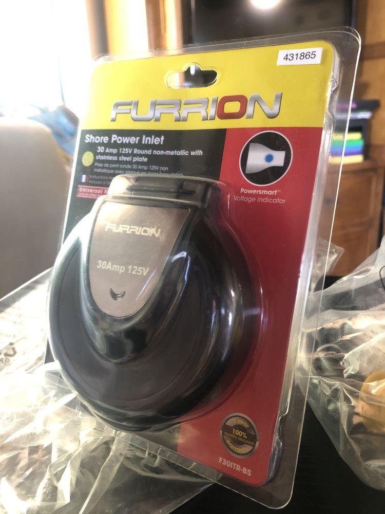 Furrion F30ITR-BS 30 Amp 125 Volt RV Power Inlet