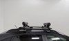 0  ski and snowboard racks rockymounts roof rack clamp on - standard liftop smalls carrier locking 3 pairs of fat skis or 2 boards