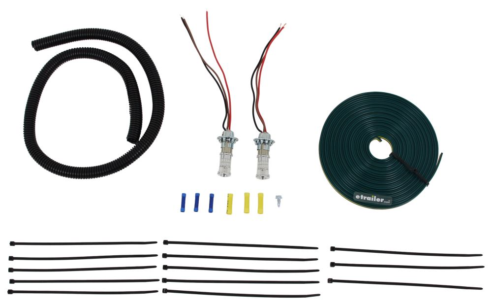 Roadmaster Tail Light Wiring Kit for Towed Vehicles - LED Bulb and Socket - Red Universal RM-152-LED