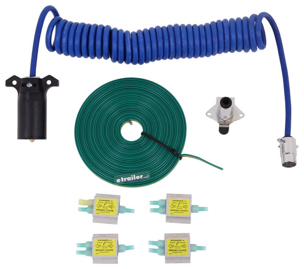 Roadmaster Diode 7-Wire to 4-Wire Flexo-Coil Wiring Kit Universal RM-15247