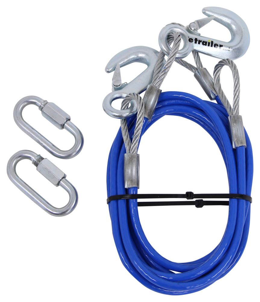 "Roadmaster 64"" Single Hook, Straight Safety Cables - 8,000 lbs Snap Hooks RM-645"