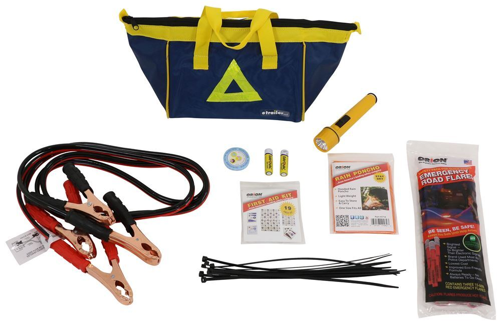 Orion Roadside Emergency Kit with Flares and First Aid Kit - 41 Pieces RN8941-01