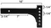 """Reese Weight Dist Shank - 14"""" Long - 2-1/4"""" Drop to 7"""" Rise - 1,400 lbs TW 14000 lbs GTW RP3214"""