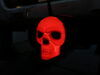 """Skull LED Lighted Trailer Hitch Cover - 1-1/4"""" and 2"""" Hitches - Black Plastic Face RP86529"""