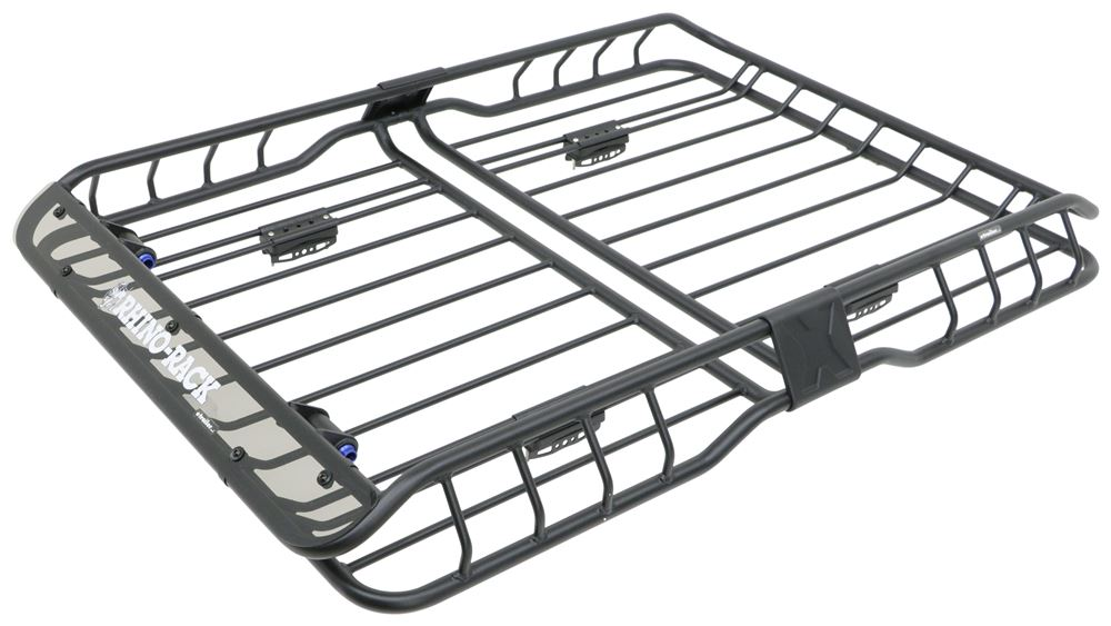 Black Aluminium Roof Rack Basket Tray Luggage Cargo Carrier with Bars 3 Large 55 X 39