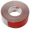 optronics trailer lights reflectors 150l foot x 2w inch 7 long silver/ 11 red conspicuity reflective tape - 150' perforated