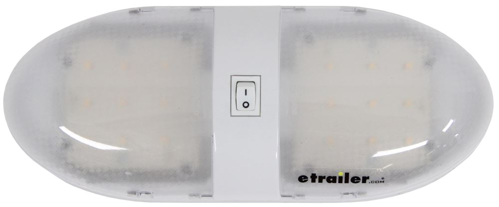 Optronics LED RV Interior Double Dome Light with Switch - 815 Lumens - White Housing - Clear Lens White RVILL34