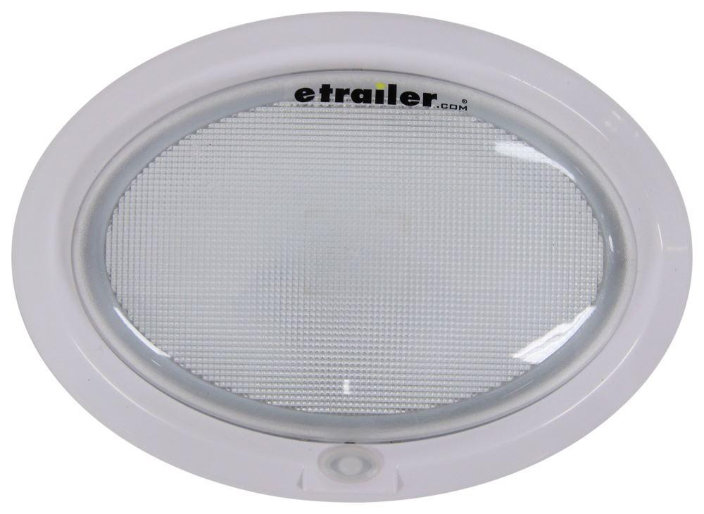 Optronics LED RV Interior Dome Light w/ Switch - 230 Lumens - White Housing - Clear Lens - 12V/24V White RVILL39