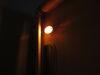 RV Porch Utility Light w/ Switch - Incandescent - Oval - White Housing - Amber Lens White RVPL7A