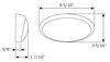 RVPLL11CB - 6-5/16L x 3-5/16L Inch Optronics Exterior Light