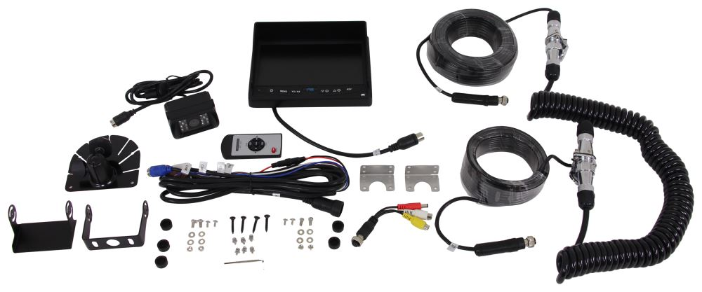 Rear View Safety Backup Camera System with Trailer Tow Quick Connect Kit 130 Degrees RVS-770613-213