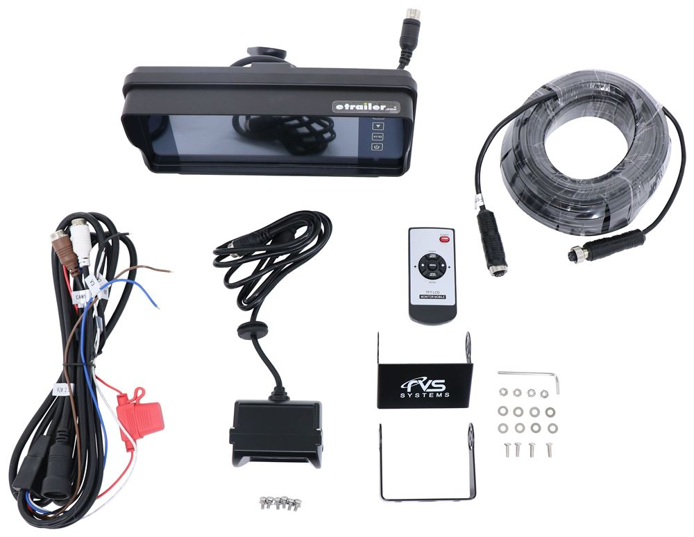 Rear View Safety Inc Distance Grid Lines,Mirrored Image,Night Vision RV Camera System - RVS-770619N