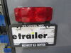 Low Profile LED RV Tail Light w/ License Bracket - 4 Function - 12 Diodes - Black Base - Driver Side Red RVSTLB61