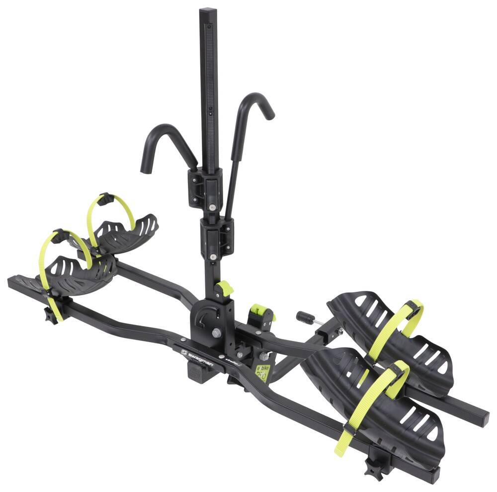 "Swagman Current 2 Bike Platform Rack - 1-1/4"" and 2"" Hitches - Tilting Electric Bikes,Fat Bikes,Heavy Bikes S64678"