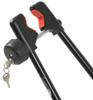 Clamp that attaches to Bike Frame Lock Secures Bike to Rack for a Swagman Rooftop Bike Carrier