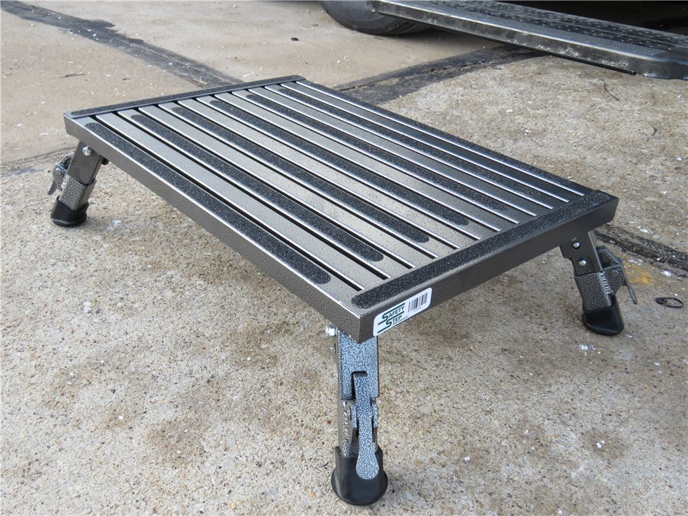 Safety Step XLA-09C-G RV Trailer Camper Steps /& Ladders XL Folding 16 X 24