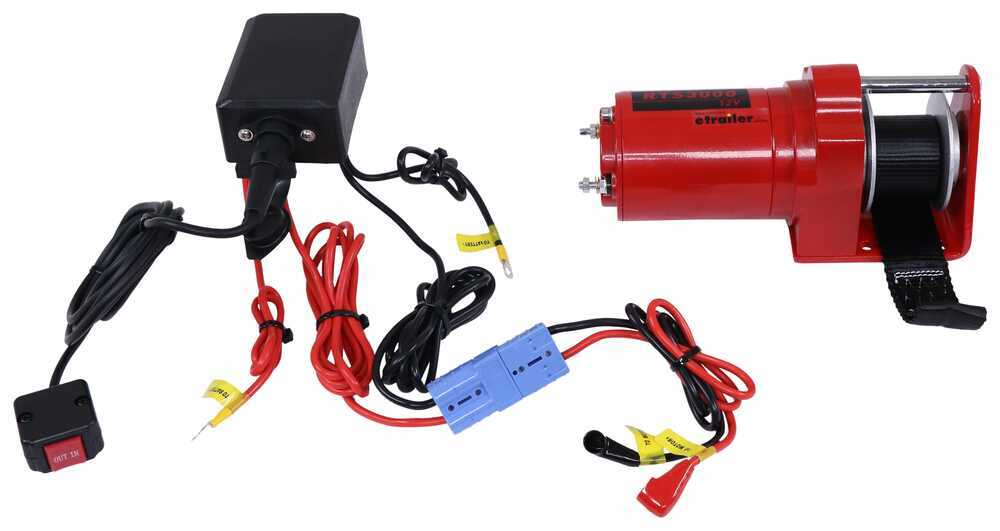 Replacement Single Speed Electric Winch w/ In-Cab Switch for SnowBear Personal and UTV Snowplows Winch Parts SB263-282