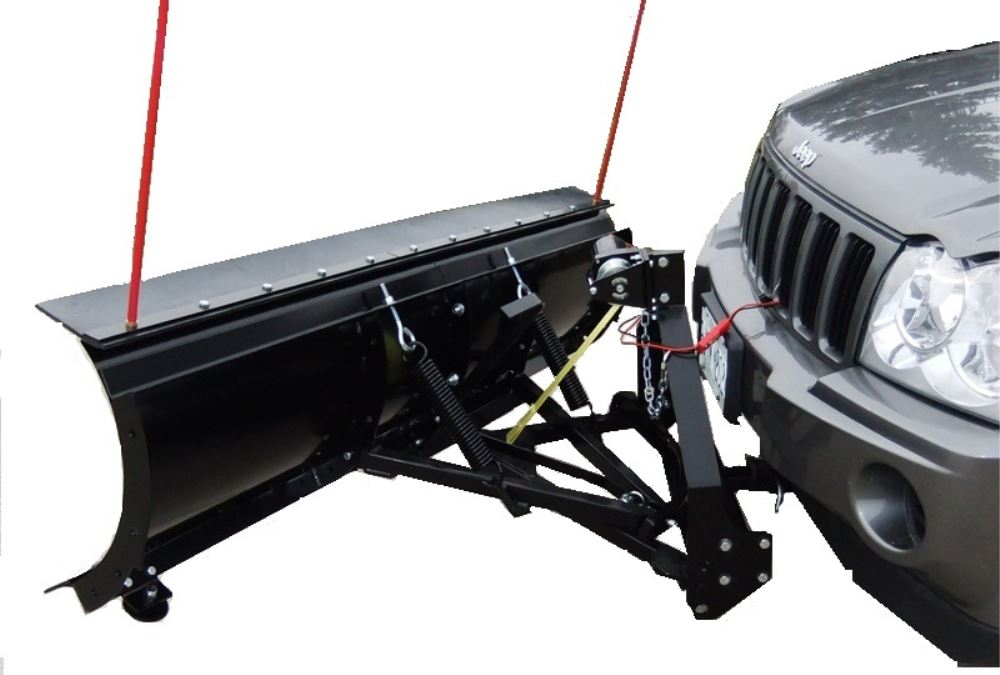 "SnowBear Personal Snowplow for 2"" Hitches - Electric Winch - 88"" Wide x 26"" Tall Adjustable Blade - 5 Angles SB324-082"