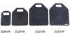 """Stromberg Carlson RV Jack Pads for RVs and Trailers - 9"""" Long x 6"""" Wide - Rubber - Qty 4 4 Jack Pads SC84VR"""