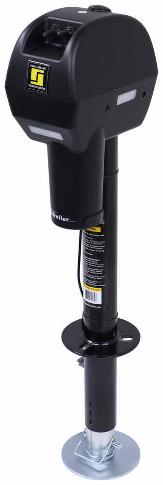 "Stromberg Carlson Electric Trailer Jack - Drop Leg - A-Frame - 23"" Lift - 4,500 lbs - Black 1 Jack SC63VR"