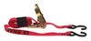 snap-loc ratchet straps trailer truck bed 6 - 10 feet long tie-down strap w/ wrapper and s-hooks 1 inch x 8' 833 lbs