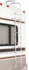 surco products rv ladders  8 feet tall universal exterior ladder w center hinges for contoured rear wall - 97 inch long 250 lbs