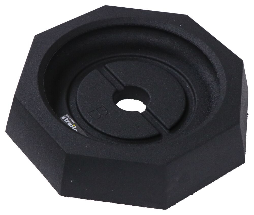 """Replacement Pad for SnapPad Jack Stand Pad System - 10"""" Octagon or Round Concave Jack Foot Foot Pads SP84FR"""