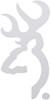 spg novelty browning buckmark flat decal - white