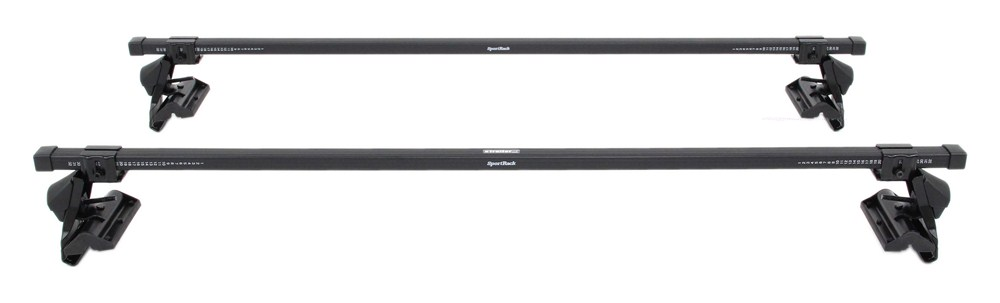 """SportRack Semi-Custom Roof Rack for Naked Roofs - Square Crossbars - Steel - 50"""" Long 50 In Bar Space SR1010"""
