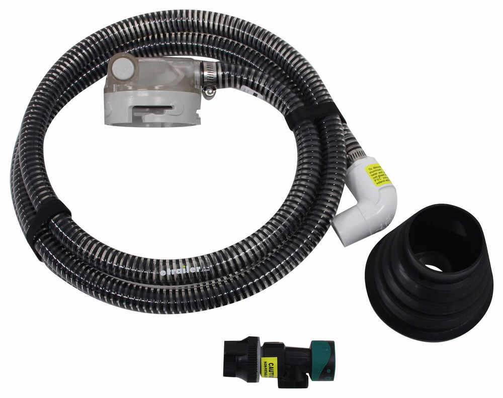 SewerSolution Macerator System for RV Waste Tanks - Bayonet Fitting and 4-in-1 Adapter - 10' Tank Rinser,Macerator System SS01