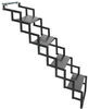 brophy rv and camper steps 4 ground contact scissor - steel diamond tread 17 inch wide 275 lbs