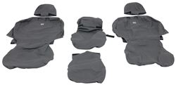 Charcoal Black SS8363PCCH Covercraft Custom-Fit Rear-Second Seat Bench SeatSaver Seat Covers Polycotton Fabric