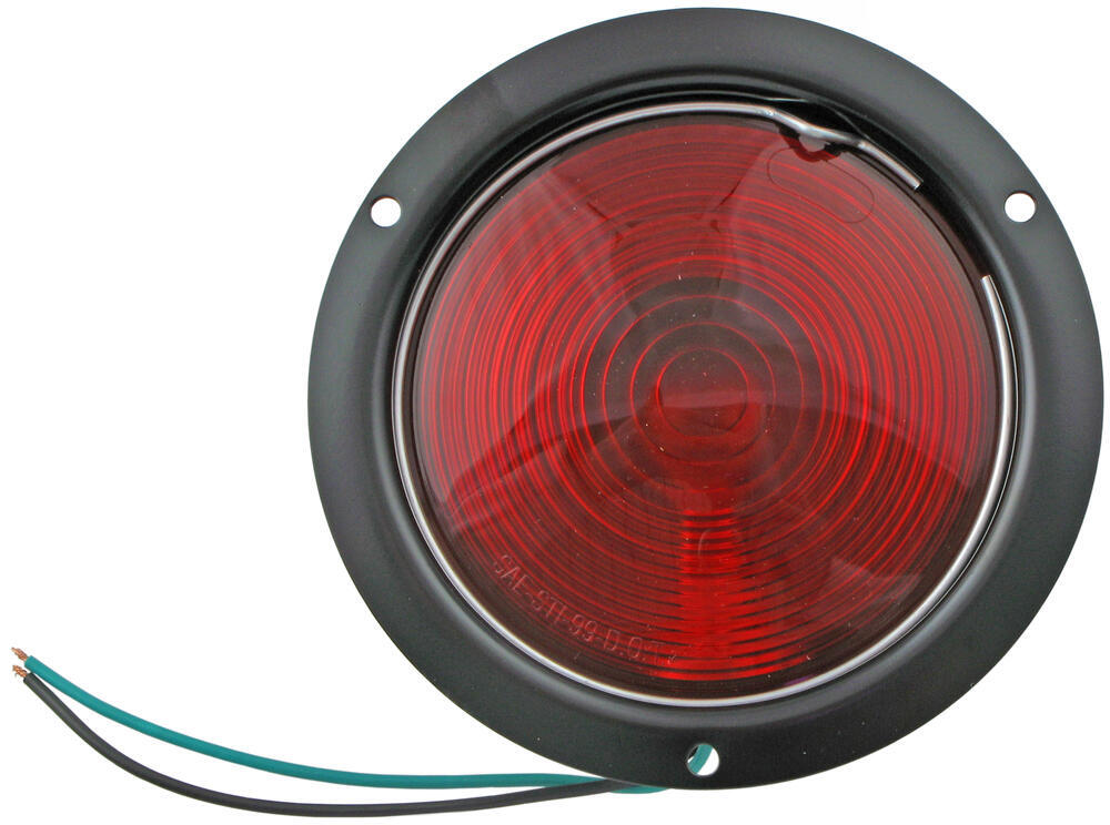 Optronics Trailer Tail Light - Stop, Turn, Tail - Incandescent - Round - Red Lens Round ST40RB