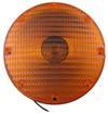 optronics trailer lights non-submersible 7 inch diameter round transit turn signal light - amber